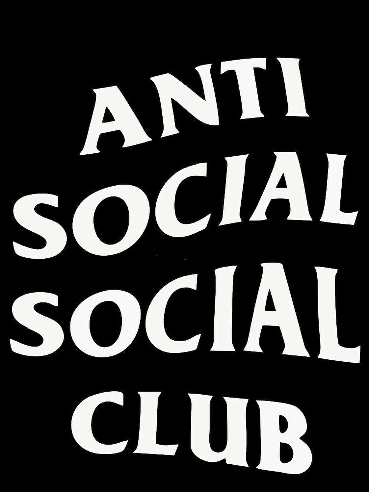Anti social social club logo Wallpaper de tela, Fundo de