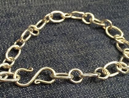 Artisan Sterling Silver Bracelet - Oval Chain