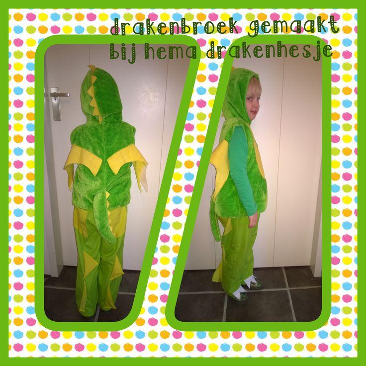 Vandaag een broek gemaakt voor carnaval voor mijn draakje!