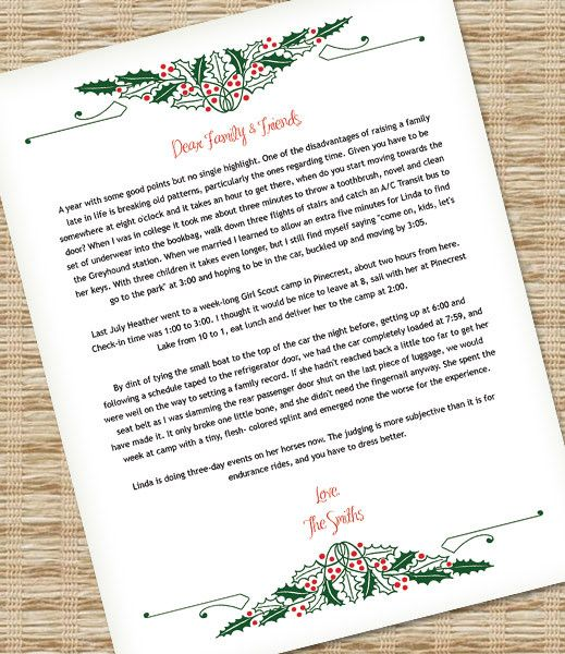 104 best Christmas! images on Pinterest Christmas time, Home - microsoft word christmas letter template