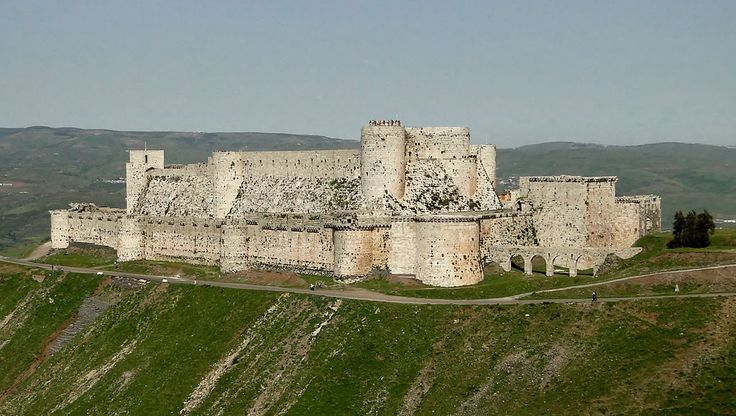 Krak des Chevaliers  Crusader castle in Syria and one of the most important preserved medieval castles in the world. The site was first inhabited in the 11th century by a settlement of Kurds. In 1142 it was given by Raymond II, Count of Tripoli, to the Knights Hospitaller. It remained in their possession until it fell in 1271. It became known as Crac de l'Ospital; the name Krak des Chevaliers was coined in the 19th.
