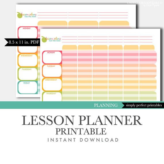 Best 25+ Printable teacher planner ideas on Pinterest ...