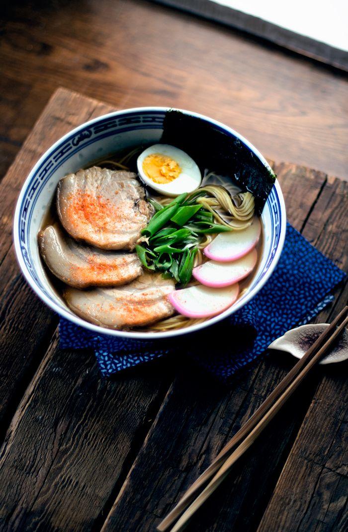 Japanese Shoyu (soy sauce) ramen noodles