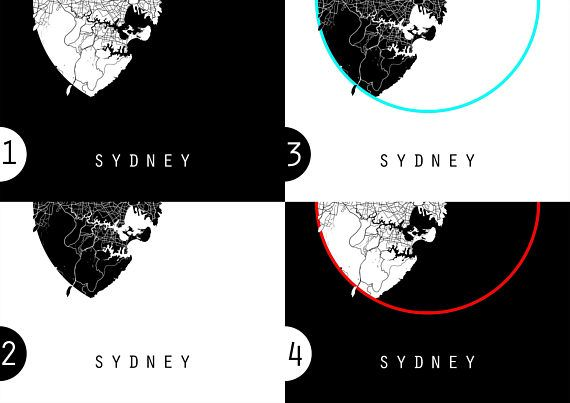 Sydney Map Australia Map New South Wales Map Black And