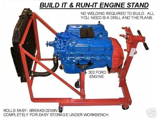 ford 302 5 0 chevy chrysler engine test stand plans