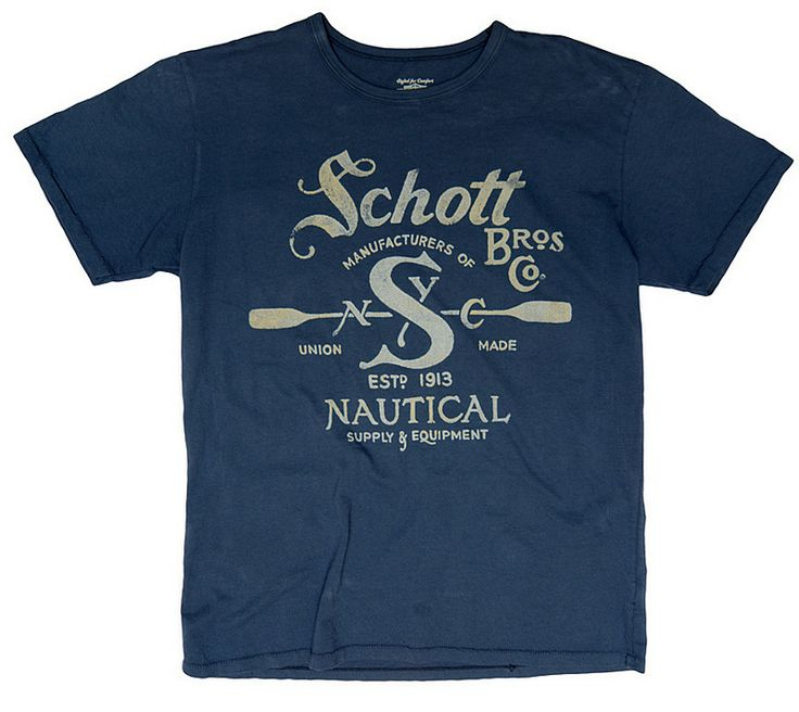 Nautical Tee TNAUT1    by Schott