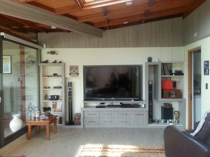 Mueble a medida para centro de entretención/tv/sala de estar/entretención/muro/mueble