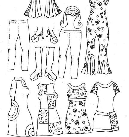 Best How To Make Paper Dolls Images On   Paper