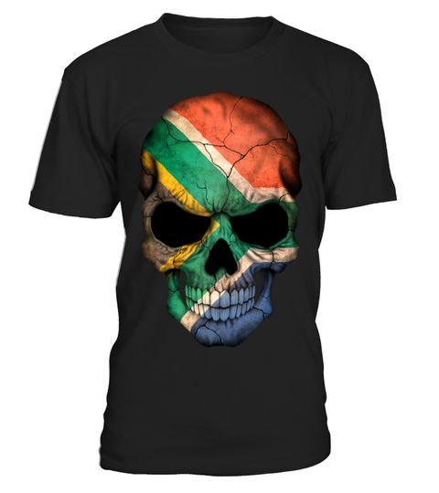 # South African Flag Skull .  HOW TO ORDER:1. Select the style and color you want: 2. Click Reserve it now3. Select size and quantity4. Enter shipping and billing information5. Done! Simple as that!TIPS: Buy 2 or more to save shipping cost!This is printable if you purchase only one piece. so dont worry, you will get yours.Guaranteed safe and secure checkout via:Paypal | VISA | MASTERCARD