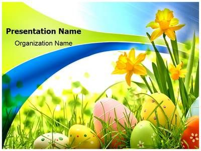Good Check Out Our Professionally Designed Easter Eggs Flowers PPT Template.  Downloadu2026