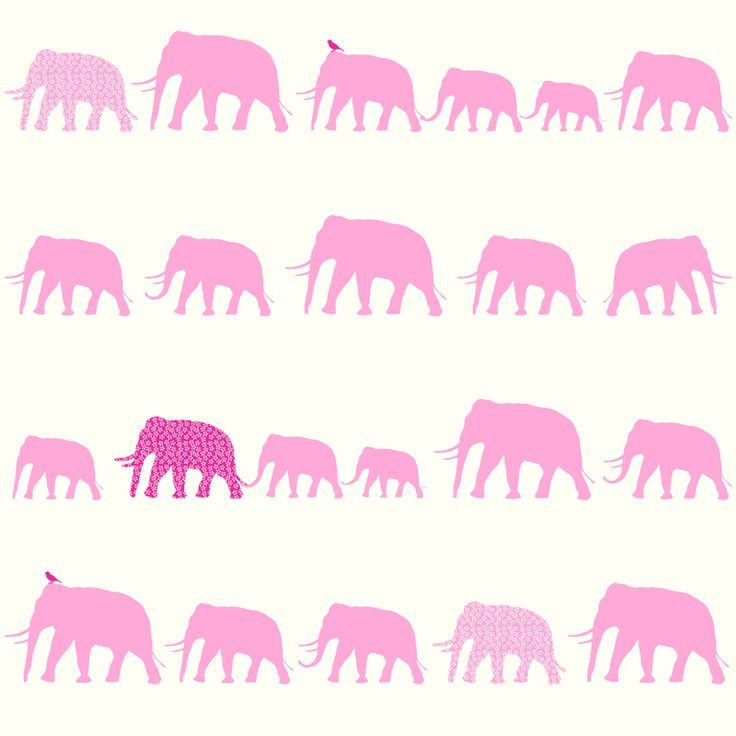 Esta tapetti Elephant, suloisilla marssivilla norsuilla. - Esta wallpaper Elephant, with adorable marching elephants. Yhteensopiva tapetti/Match wallpaper with: http://www.taloon.com/tapetti-fine-dots-137311-0-53x10-05-m-pinkki-valkoinen-non-woven/AM-137311/dp?openGroup=7394