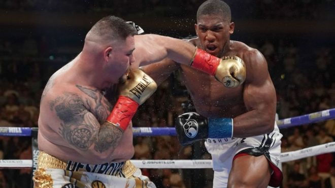 Britain S Anthony Joshua Will Face Unified World Heavyweight Champion Andy Ruiz Jr In Their Rematch Anthony Joshua Heavyweight Boxing Junior Sets