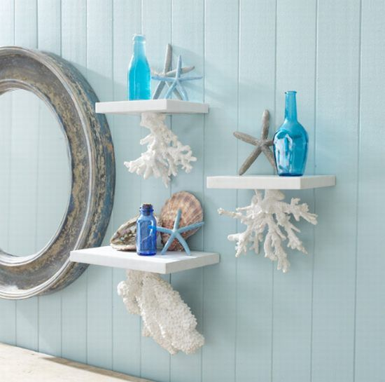 Nautical Home Décor: Wisteria Floating Coral Shelf