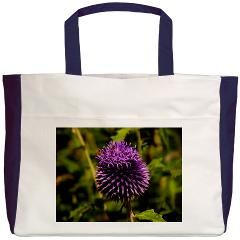 Purple Thistle Beach Tote