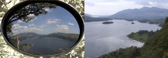 The Claude Glass, a sort of lens without the camera, was a convex pocket mirror used by artists in the 18th century to push more scenery into a single focal point, great for picturesque views.