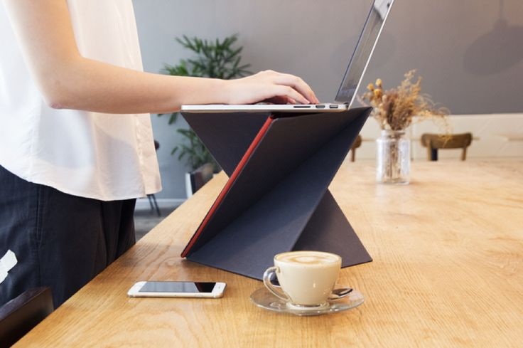 Slim Foldable Portable Desk  The work life is asking a more important mobility so taking our computer with us is a common thing. The LEVIT8 is a small portable desk thin and light that unfolds and fold in one second. It can be easily put away and transported. the project would be funded in two days on Kickstarter.         #xemtvhay