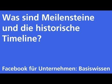 Facebook: Historische Timeline (Chronik)