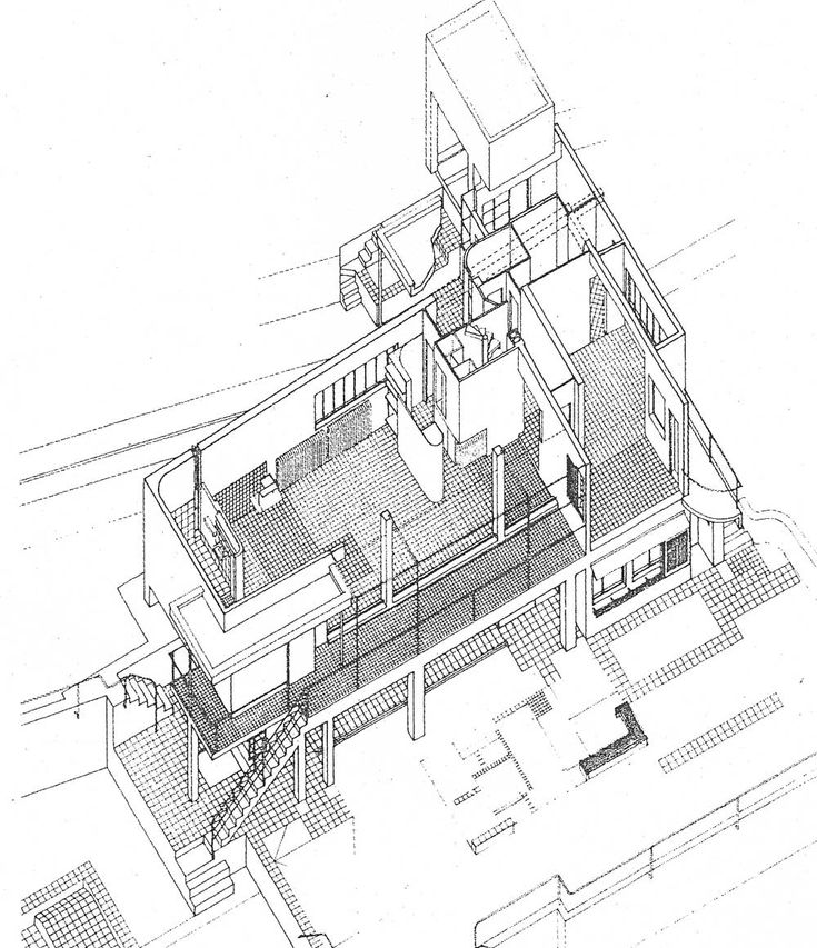 By eileen gray architecture pinterest eileen for Residential architectural drawings