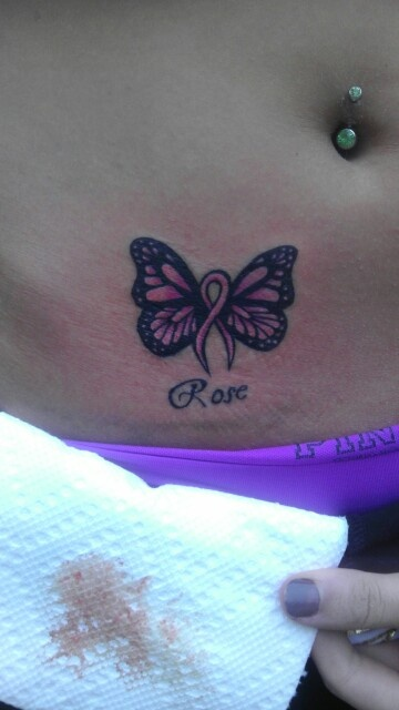 23 best butterfly tattoos images on pinterest butterfly for Breast cancer butterfly tattoos