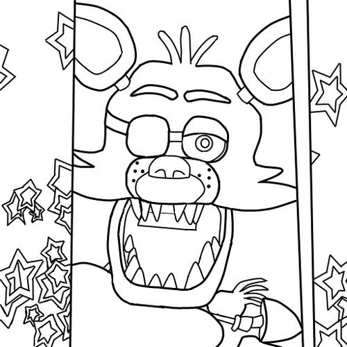 Fnaf Freddy Five Nights At Freddys Foxy Coloring Pages Printable And Book To Print For Free Find More Online Kids Adults Of