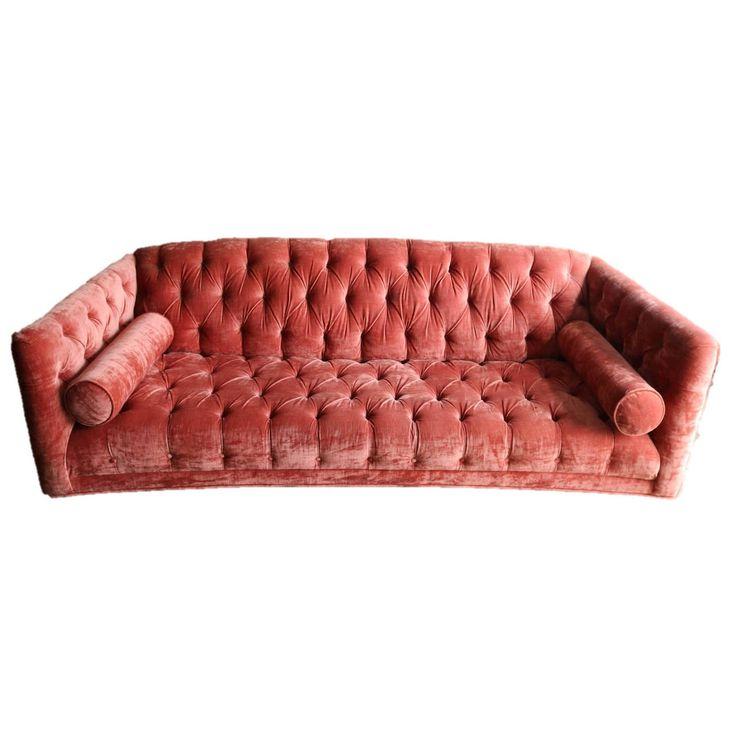 Exquisite Tufted Slub Velvet Chesterfield Sofa