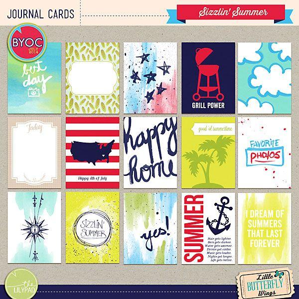 Sizzlin' Summer {journal cards}