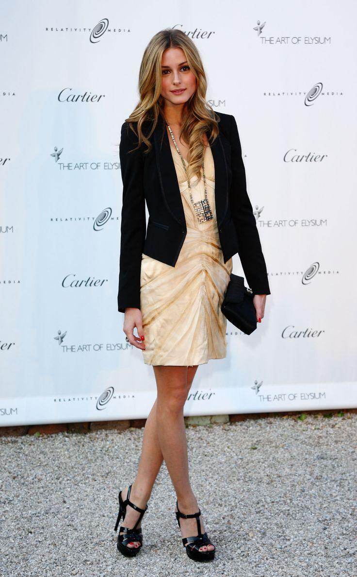 olivia palermo: Light Pink Blazers, Oliviapalermo, Cocktails Dresses, Dresses Shoes, Style Icons, Fall Fashion, Olivia Palermo, Work Uniforms, Black Blazers