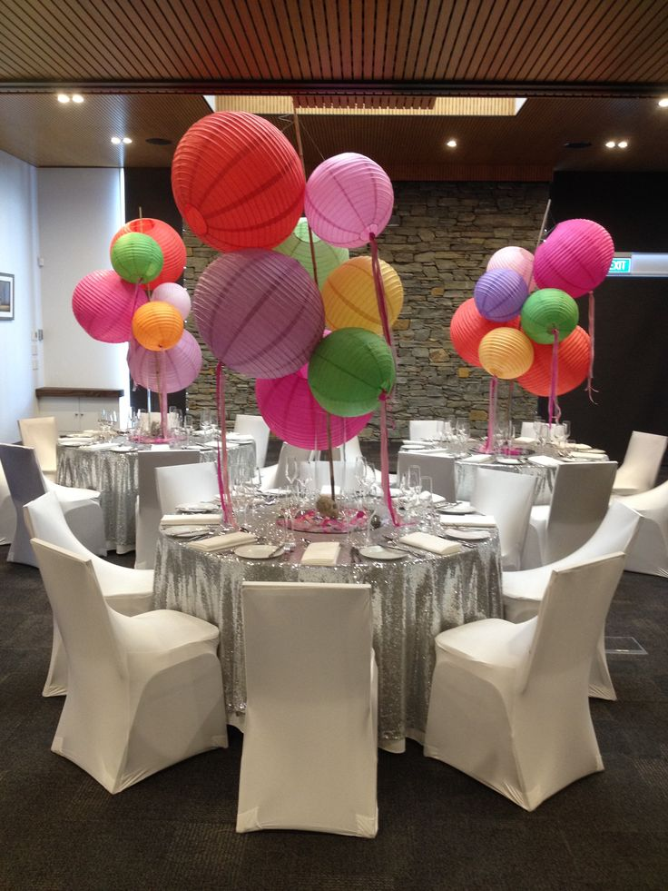 Party time with @FantailProd's absolutely stunning chinese lantern centre pieces! Bring. It. On. Wanaka!