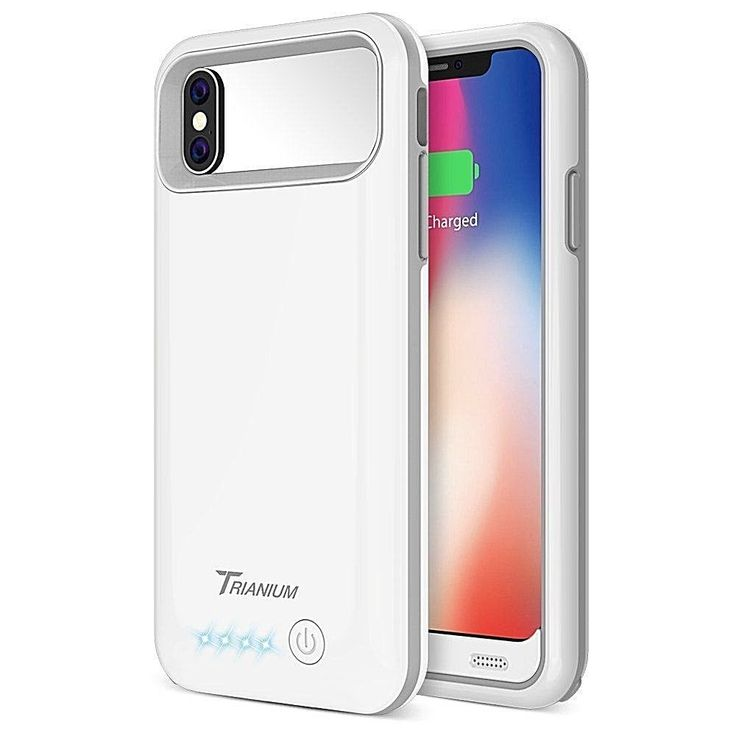 Iphone X Battery Case 4000Mah Portable Charging Cover- Power Bank Full White New #DealsToday