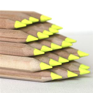 Amazing! Neon yellow highlighter pencils with natural wood finish. Unlike standard fiber