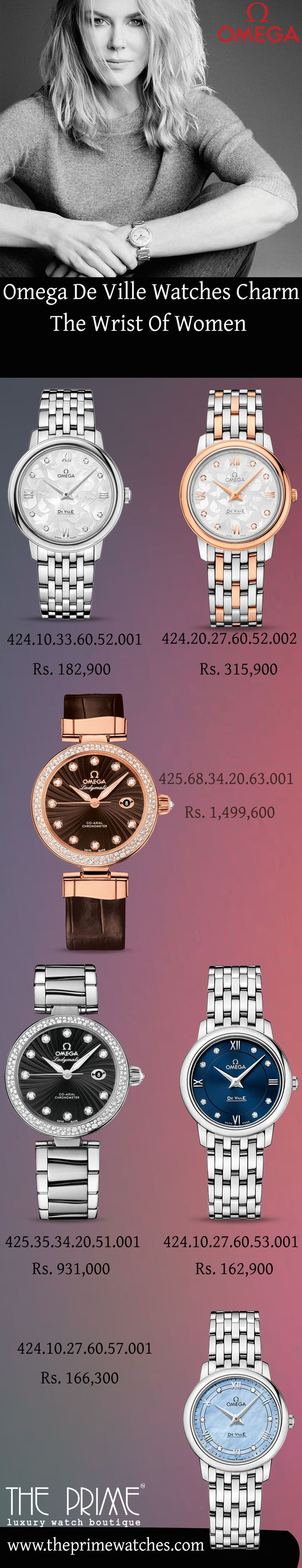 Omega De Ville is one of the celebrated watches collection that consists of some amazing watches for women that represents their delicacy and also enhances their gloss and makes them spotted on any occasion. This content unlocks some appealing Omega De Ville watches for dashing women.