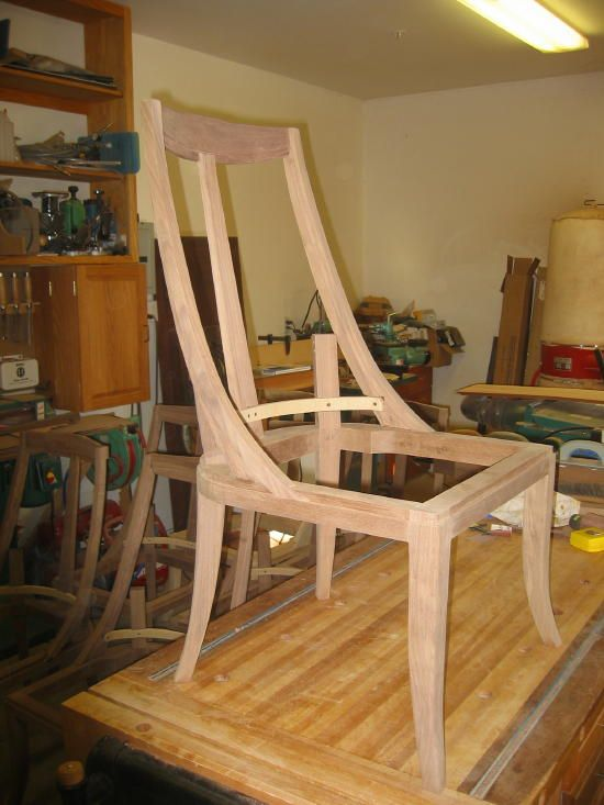 Upholstered walnut dining chairs - WoodworkersZone WoodWiki