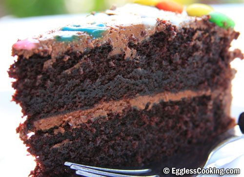 I Can't Believe It's Eggless Chocolate Cake!