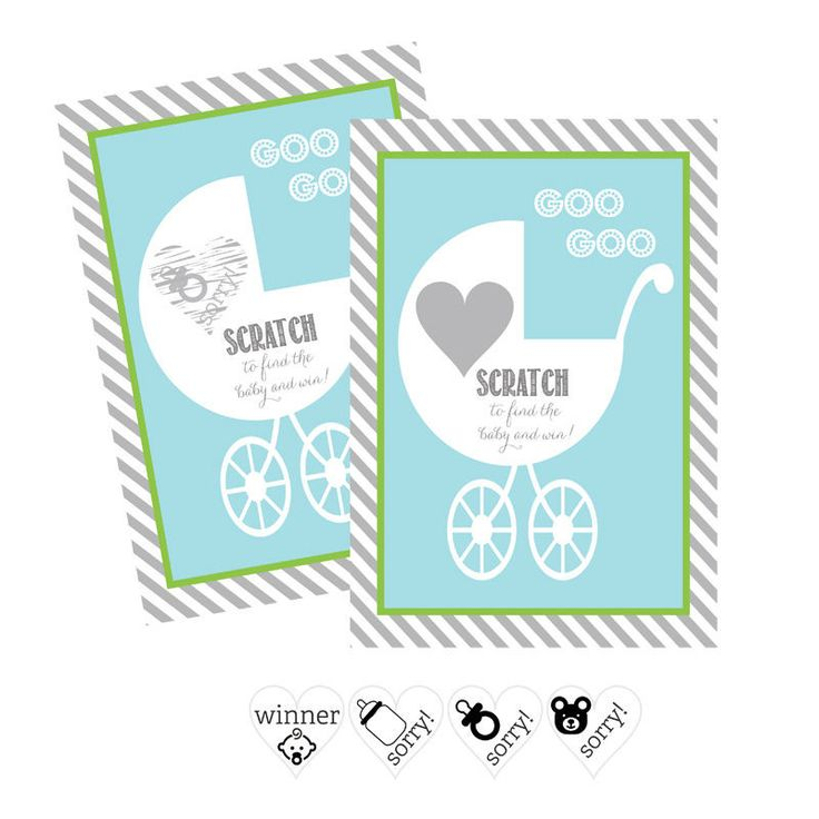 Blue Baby Carriage Scratch Off Game Cards (Set of 12)
