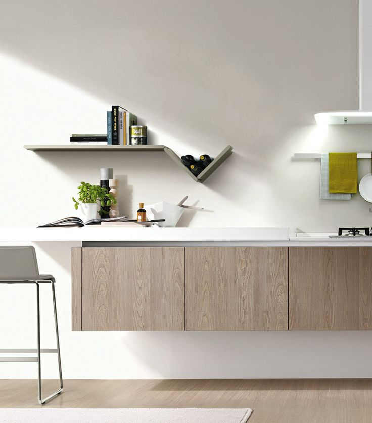In the kitchen everything has to be in order and perfectly reachable. The ZedLine shelves, because of their tiny depth, are ideal storage above the working surface. In addition, they can be easily cleaned: since they are removable, water-repellent and made of rigid polyurethane.