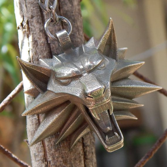 The Witcher medallion of wolf head for necklace from by Oki007, ₪430.00