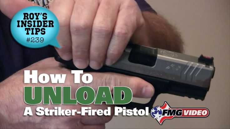 Unloading A Striker-Fired Pistol - How do you safely unload a striker-fired pistol? Using a Springfield XDM 3.8, American Handgunner editor Roy Huntington provides a brief overview for those looking to learn how to safely unload their semi auto. Click here for more tips: http://www.americanhandgunner.com/unloading-a-striker-fired-pistol/