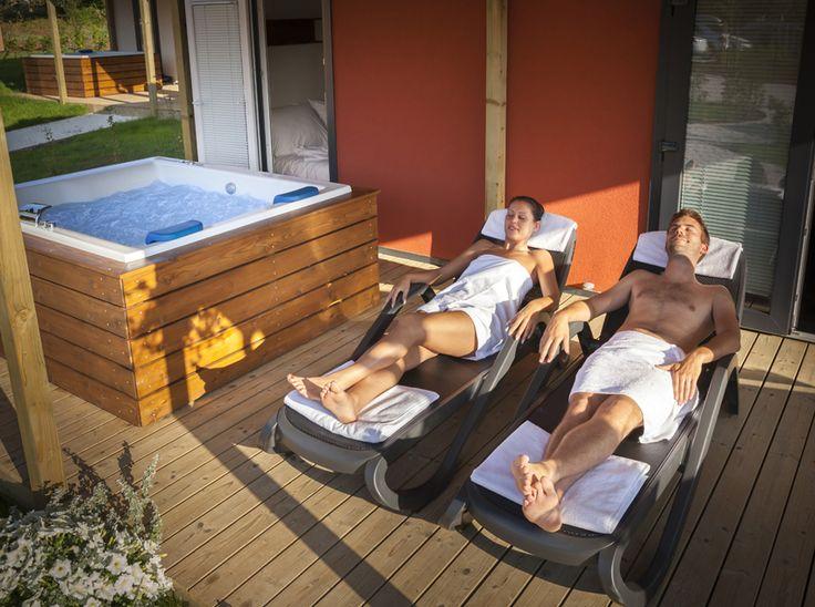 Deluxe Mobile Homes - enjoy your own hydro massage tub @ Campsite Polari, Rovinj, Istria, Croatia