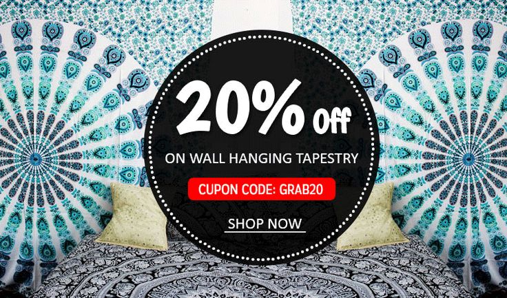 Buy Beautiful wall hanging Tapestry @Handicrunch . Use code GRAB20 and get 20% off .