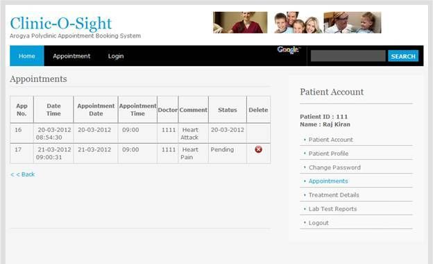 Appointment Booking System Project In Php Student Project Guidance Development Student Project Clinic System