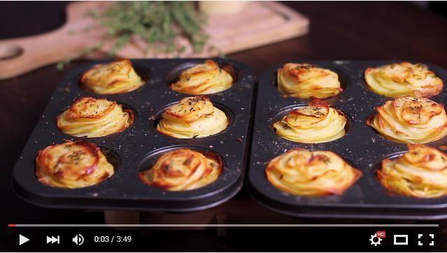 ポテトの薄切りは揚げずにオーブンへ! 簡単でレストラン級にオシャレな「焼きチーズポテト」