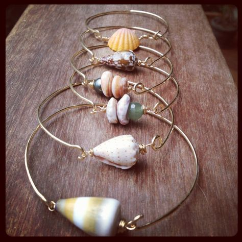 Shell Bangles Clasp Style 14K Gold Filled and by PeaceOfKauai, $40.00