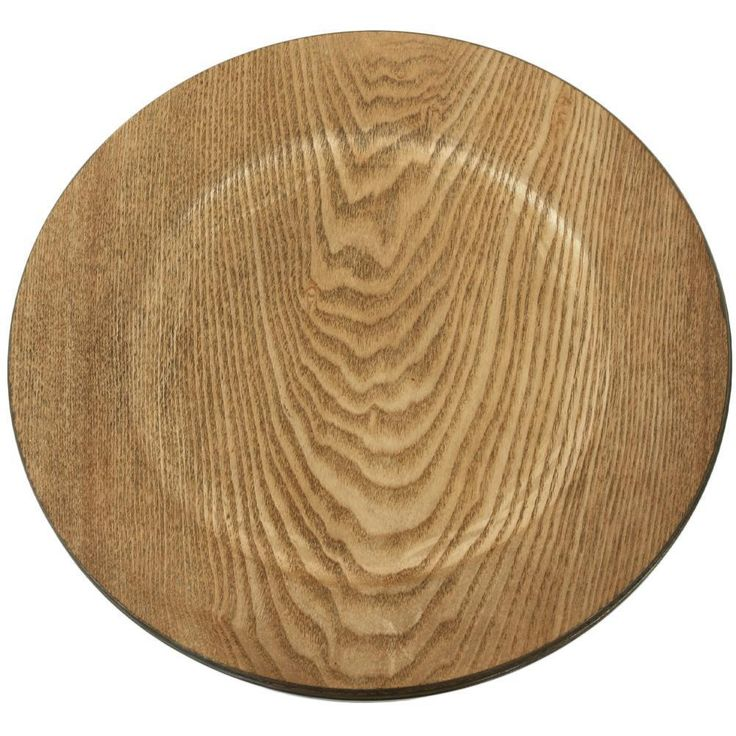 Kathiria Melamine 13 Charger Color Walnut In 2020 Wood Plate