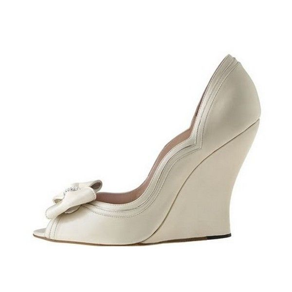 beach wedding shoes wedges the inexpensive comfort for feet weddingshoesboxcom found on polyvore