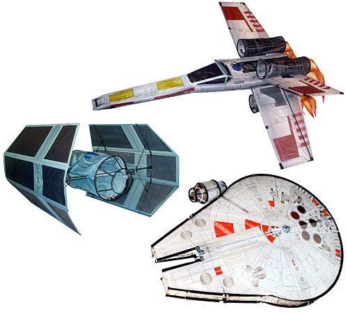 Pipas 3D das Naves de Star Wars!