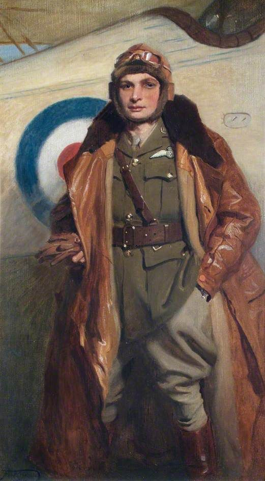 Lieutenant F. J. E. Stafford (d.1917), Royal Flying Corps by Frank O. Salisbury. Date painted: 1916.