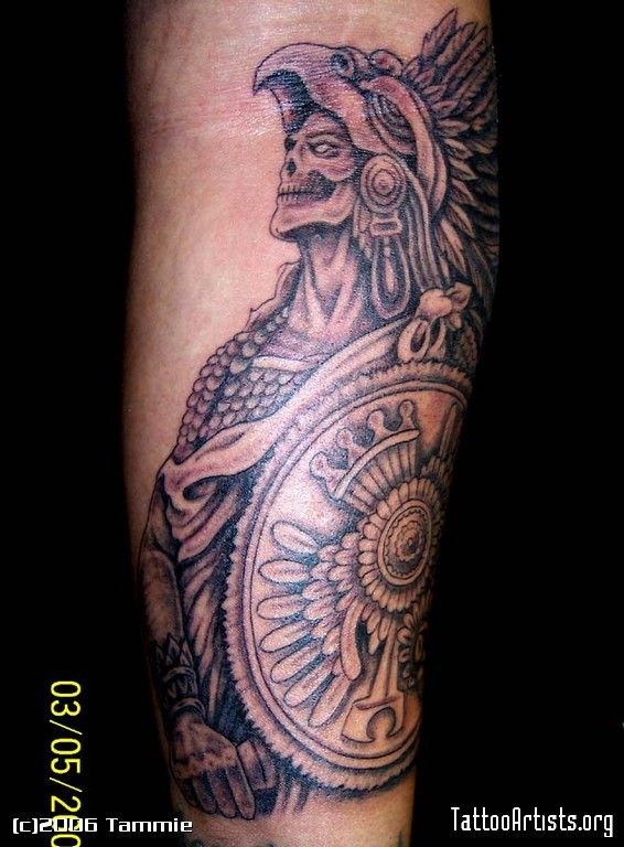 Aztec Warrior Tattoo Artists Org Design