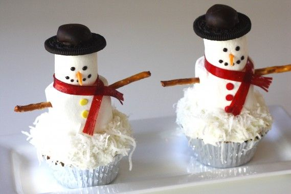 Marshmallow Snowman Cupcake Toppers | Richfield Mall