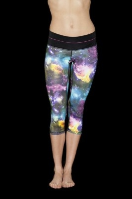 The multi band coloured leggings lift your shape in two ways. The band centres attention on your waist and smooths your middle while the advanced fabric shapes and lifts your limbs, creating a defined silhouette. Fire and Shine love them because they feel so supportive without being constrictive and they are a great way to show off the wild print in your gym wear $92.95 http://www.fireandshine.com.au/capris/