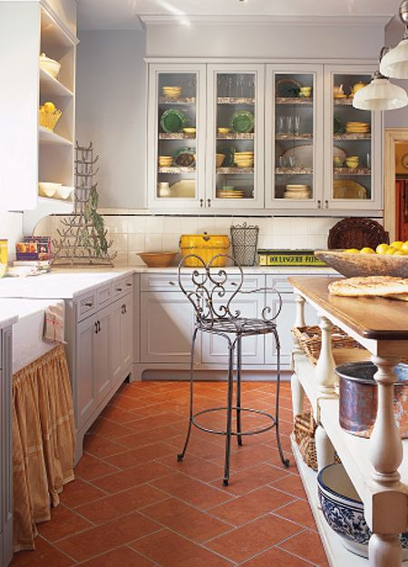 Great White Kitchen, With Yellow & Green Accents!